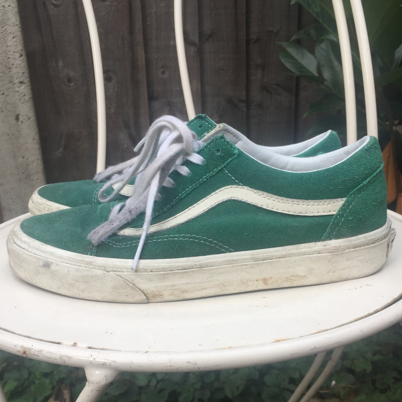 Vans Old Skool Vintage Evergreen size 6.5 obviously Depop