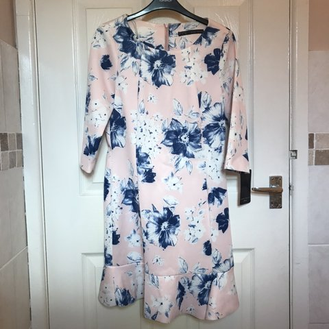 93711001 @sophie_anne13. 3 months ago. Manchester, United Kingdom. BNWT Zara pale  pink and blue floral dress.
