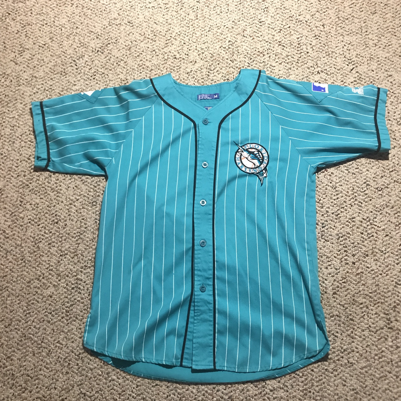 uk availability dcd34 208be Vintage Florida Marlins baseball jersey by Starter!... - Depop