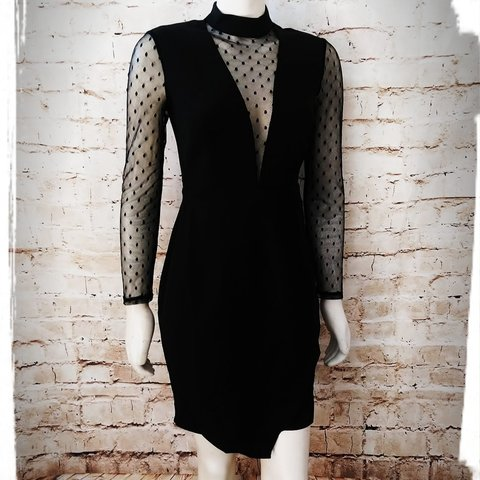 c96ea19041 10% OFF FOR  CyberMonday Beautiful black dress. Mesh arms a - Depop
