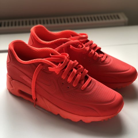 b2d32a9b @georgiehalfacree. 2 months ago. Reading, United Kingdom. Air Max 90  Hyperfuse Solar Red