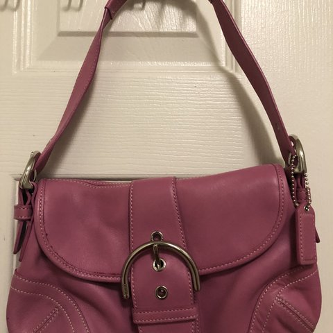 avinluan. 7 months ago. Chino Hills, CA, USA. Pink leather coach purse in good  condition. Minor marks ... fc484f63d9