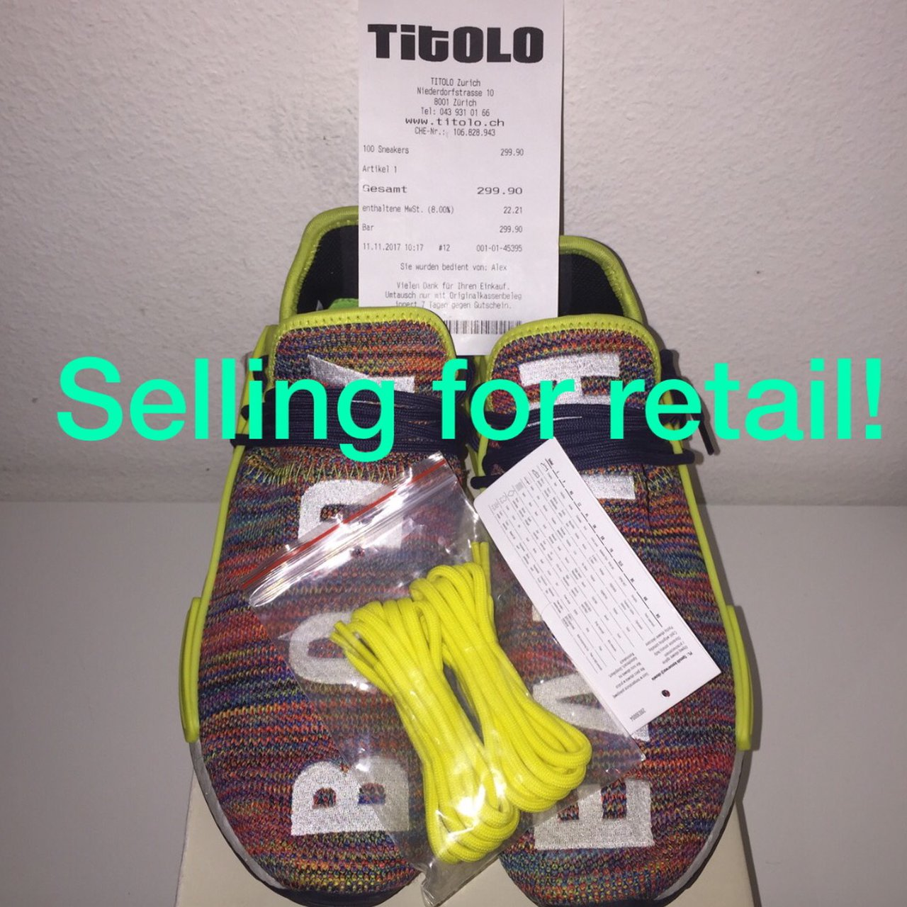 071f204514f Adidas x Pharrell Williams Human Race NMD Size US 8 (41 at - Depop
