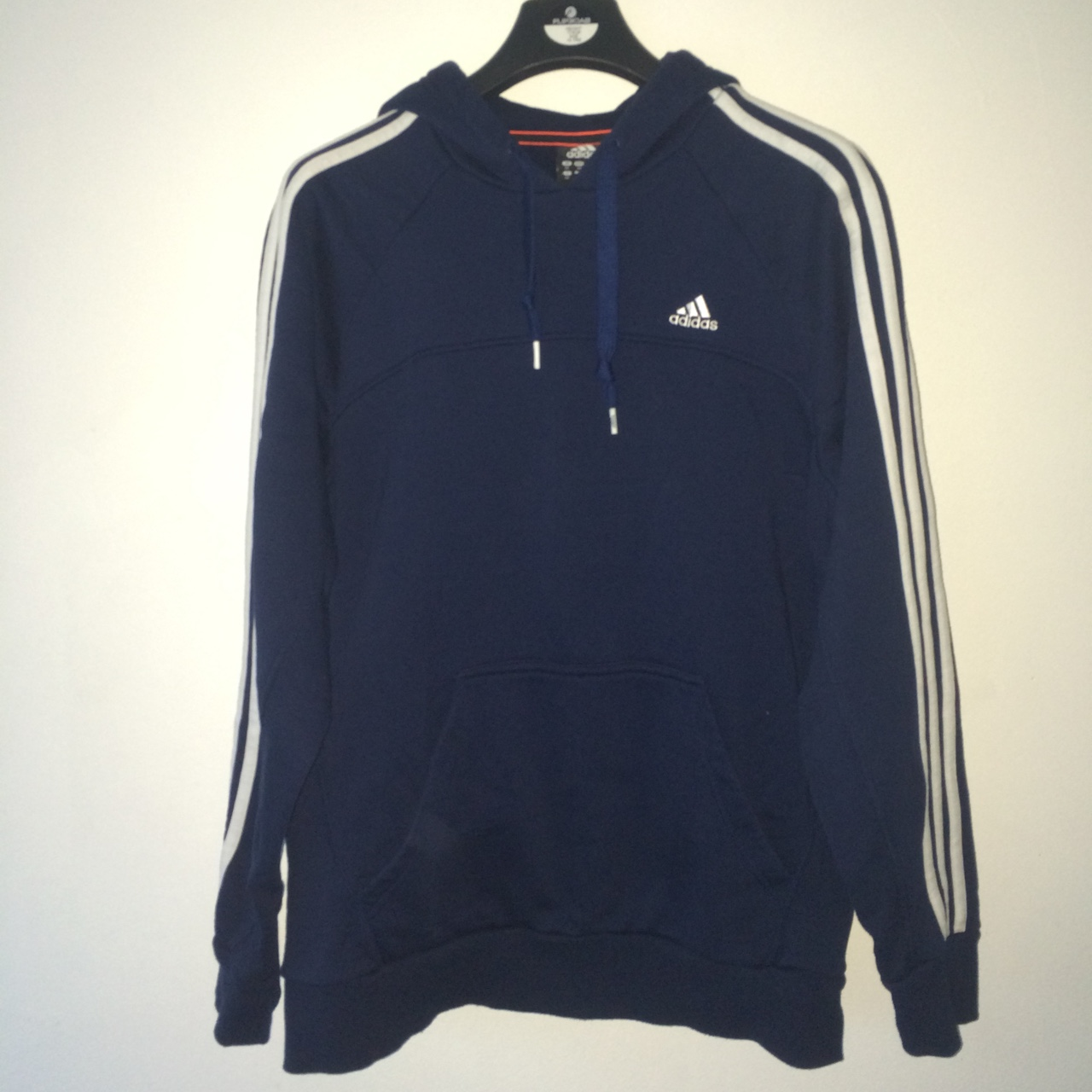 Adidas essentials hoodie sweatshirt Navy Men's Depop