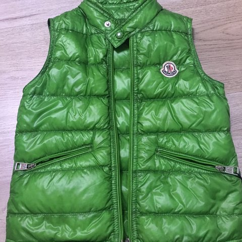 green moncler body warmer