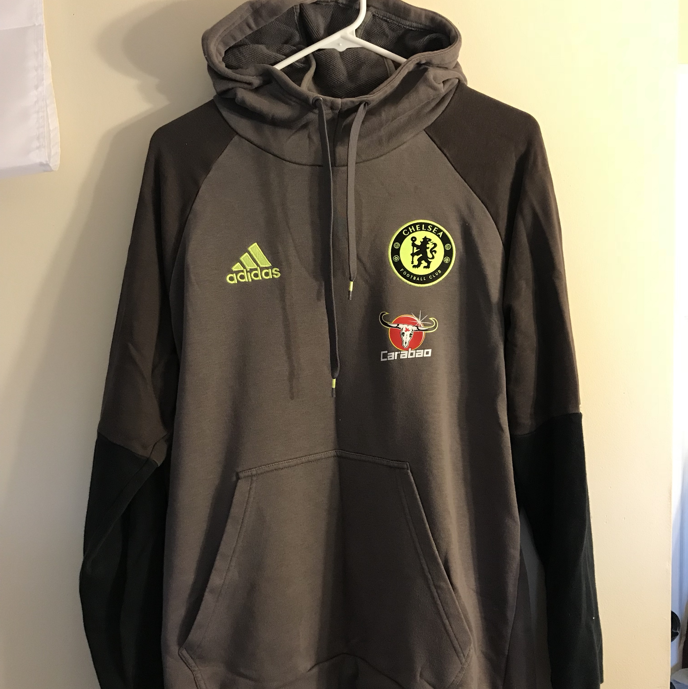 huge selection of 87fde 15522 ADIDAS CHELSEA FC HOODIE SWEATSHIRT MENS LARGE ...