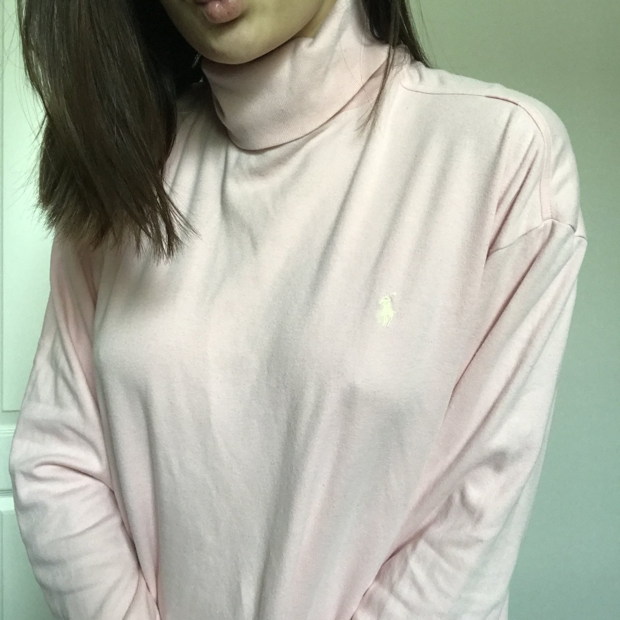 531211e2c20 @didibox. 3 days ago. Katy, United States. LIGHT BABY PINK POLO RALPH LAUREN  TURTLE NECK LONG SLEEVE TOP