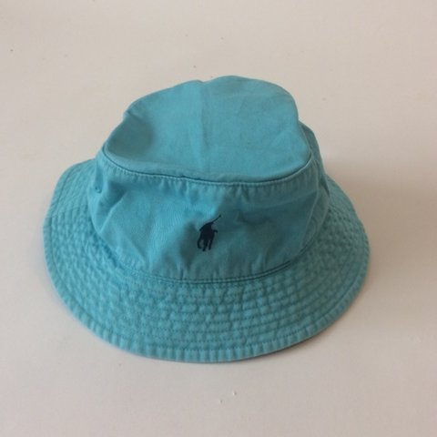 58748ea3e9a 90 s vintage teal bucket hat with navy blue polo logo🐝 0 I - Depop