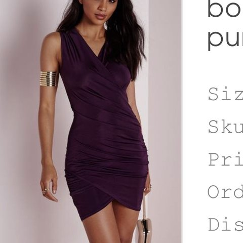 058f00cba82 REDUCED  Missguided slinky wrap dress in purple size 10. an - Depop