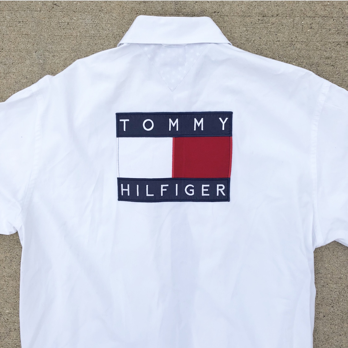 2e79f421d ❤️💙🇺🇸 VINTAGE TOMMY HILFIGER USA SPELL-OUT🇺🇸💙❤️ 💖 F R E ...