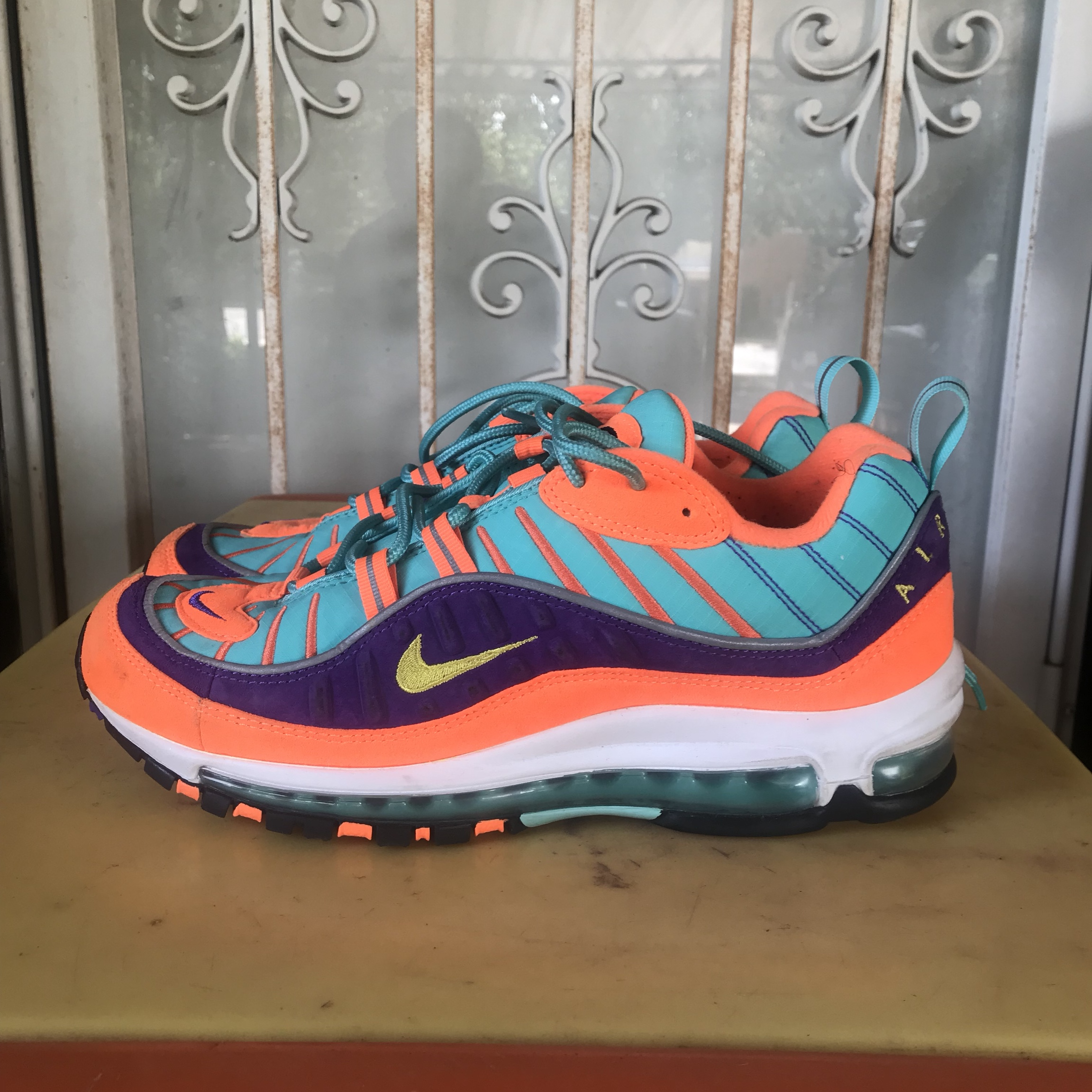 """new style 81ab6 f352a Nike Air Max 98 """"skittles"""" the multicolor sneakers... - Depop"""