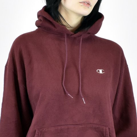 a1cbc567c694  oldfinds. 3 months ago. United Kingdom. Vintage champion hoodie pullover  jumper in burgundy red.