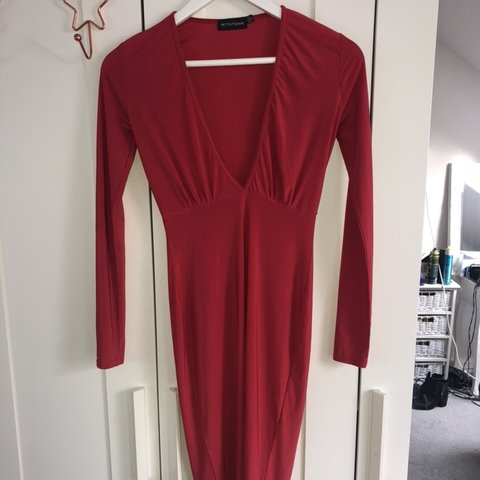 df5c77f911d Pretty Little Thing Red slinky Dress