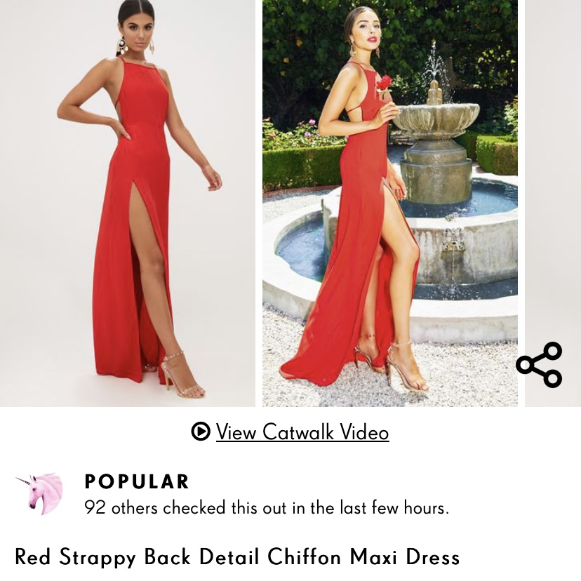 Red Strappy Back Detail Chiffon Dress Maxi Dress I Depop
