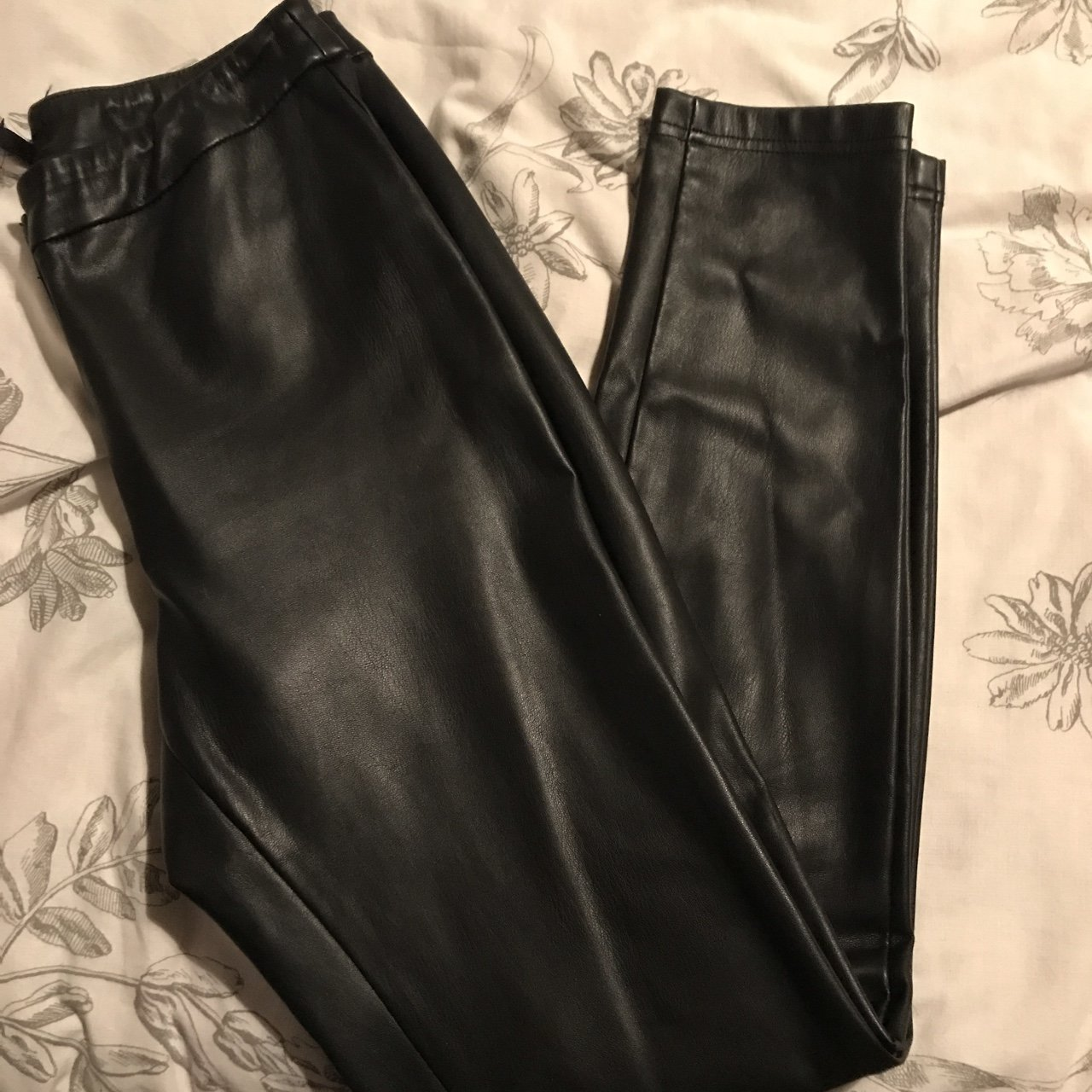d5328a9c369e Black faux leather pants from