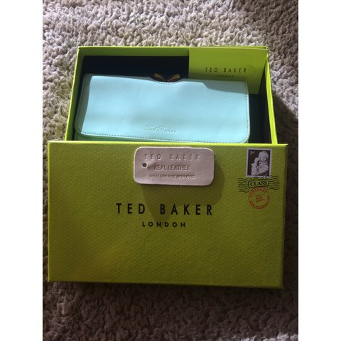 d3262c8c6d ✨ Ted Baker real leather gloss effect purse. Pale blue, pale - Depop
