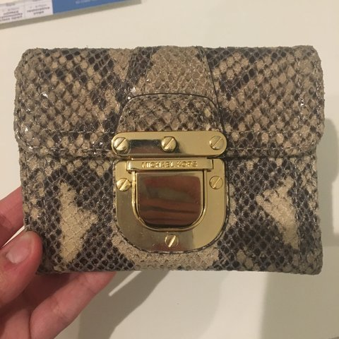 1d654e212828 michael kors snakeskin wallet. in great condition. real and - Depop