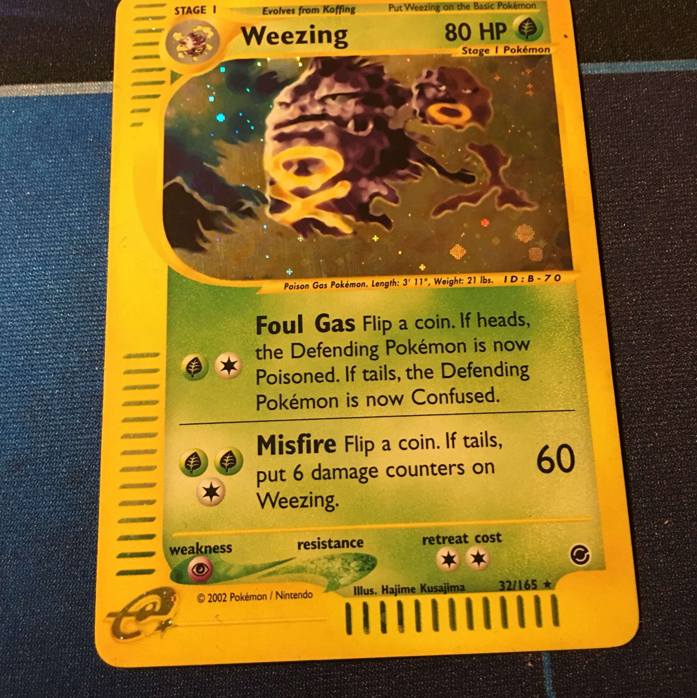 Weezing e reader Pokemon card All items come    - Depop