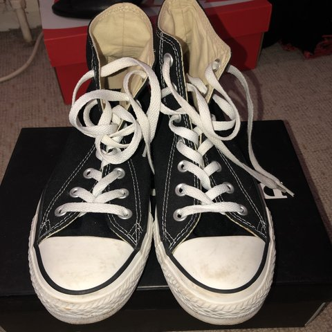 f2aa119668cc Classic black high top all star converse. Only worn once as - Depop