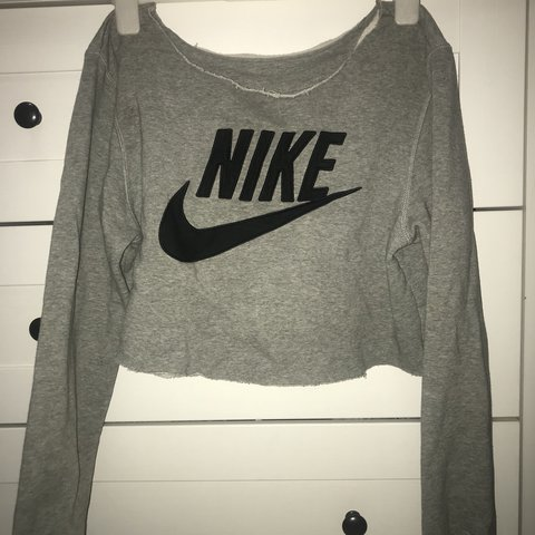 1b468757ea4a5 Nike cropped sweatshirt reworked INSTANT BUY IS ON out top - Depop