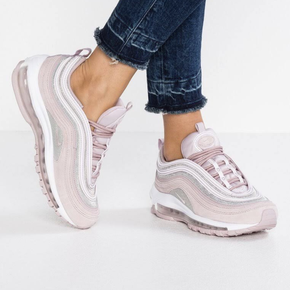 Baby pink suede glitter Nike air max 97 brand new in Depop