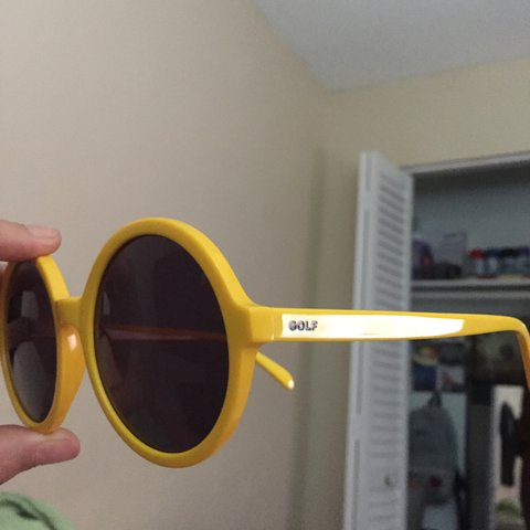 d54d305b66fc yellow Golf shades aka clout goggles  golf  shades  glasses - Depop