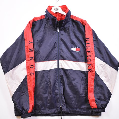 420429150 @messinahembry. last year. Ipswich, United Kingdom. Tommy Hilfiger Mens  Tracksuit Top Jacket Large Navy Blue