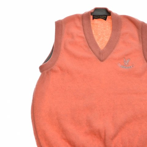 13c41bbd9437c Lyle   Scott Mens Vest Tank Top Medium Orange CONDITION  to - Depop