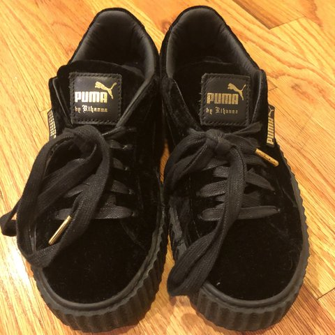 1c4e49d17eb SOLD! Puma by Rihanna black velvet creepers