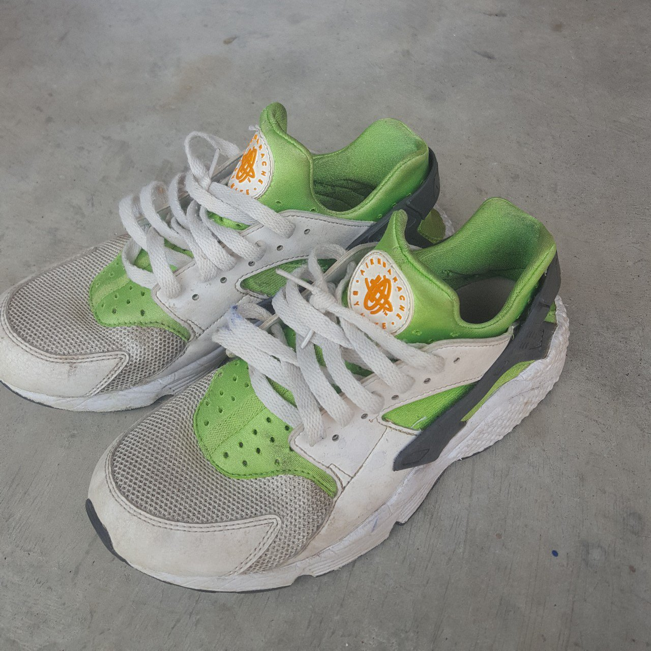 hot sale online 3fb47 cf407 oluwavaness01. last year. Mesquite, Texas, United States. NIKE AIR HUARACHE  (ACTION GREENVIVID ...