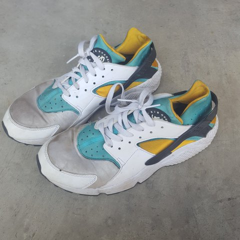 save off ed928 d8084  oluwavaness01. 5 months ago. Mesquite, Texas, United States. Nike Air  Huarache • White Sport Turquoise University Gold ...