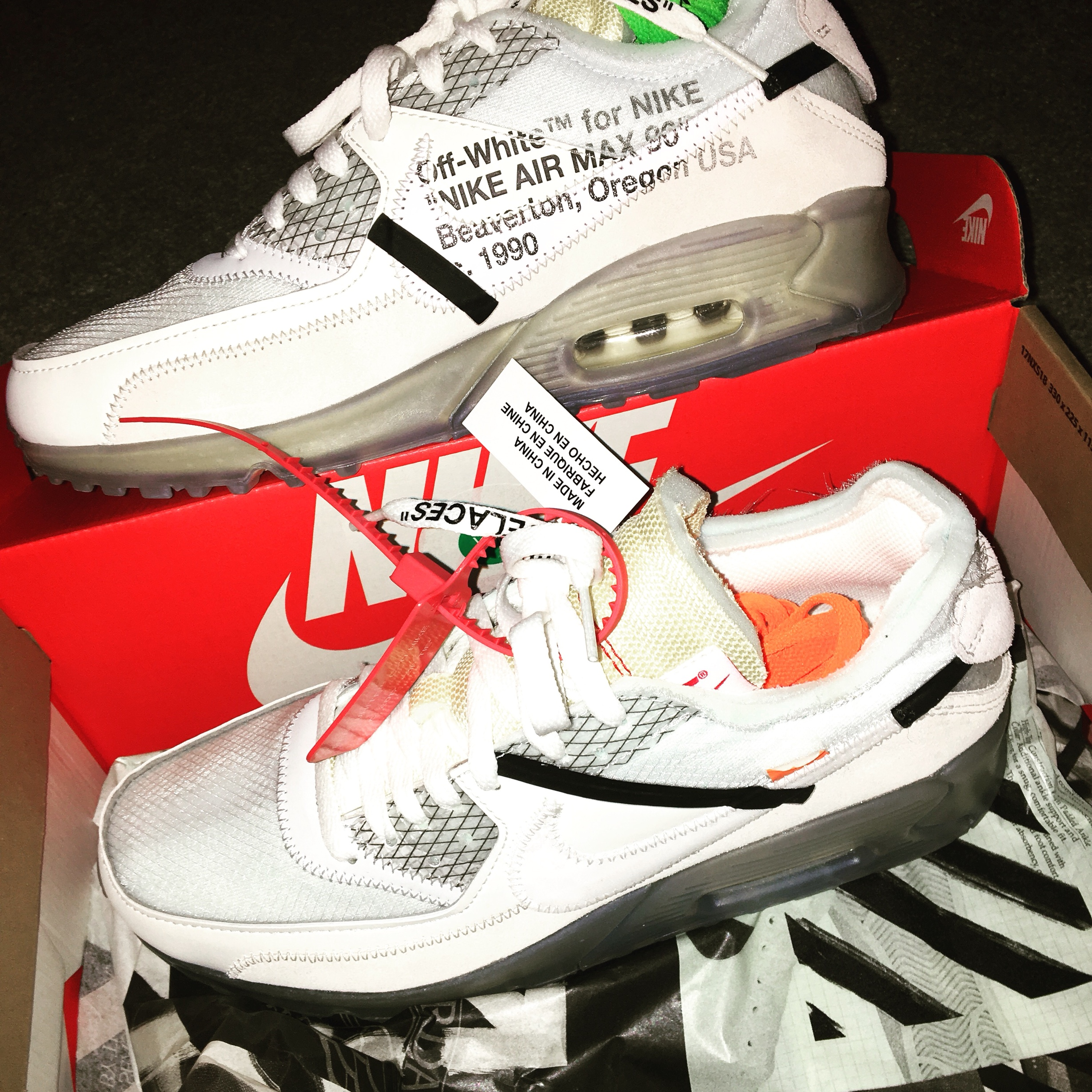 factory price good classic styles off white air max 90 from Footpatrol comes with... - Depop