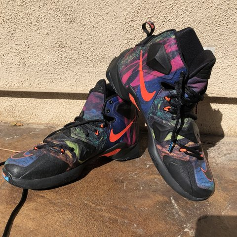 344fe96271e0 Throwback Lebron James XIII 13s akronite philosophy sneakers - Depop