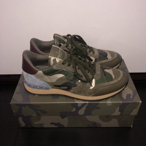 b02e97ed5a757 Rockrunner Green Military Size Camouflage Valentino New Depop Uk DIYEeW29H
