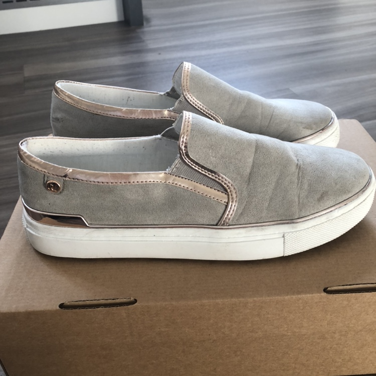 River Island grey slip on trainers with