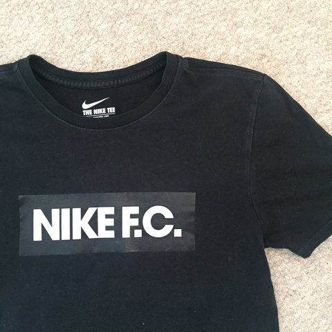 5532f438 Nike F.C. black tee- condition 7.5/10 had a lot of wear of - Depop