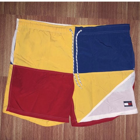 1249d9fa101aa @supremehighlytes. 5 months ago. New York, United States. Vintage Tommy  Hilfiger Swim Trunks ...