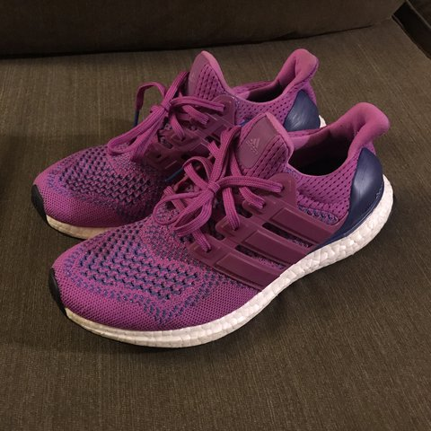 "4dfac73dc Adidas Ultra Boost 1.0 ""Flash Pink"" Size 7 in Condition - - Depop"