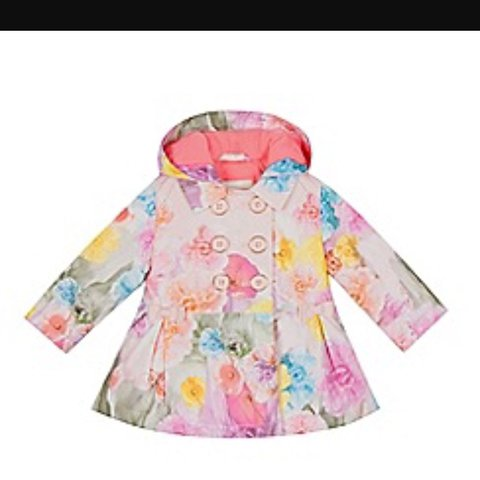 e23aad6aa4c420 Gorgeous Ted Baker baby girl coat pink with signature on. in - Depop