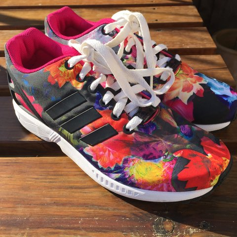 aae81e572 Adidas ZX Flux floral print - Size UK 5 - brand new without - Depop