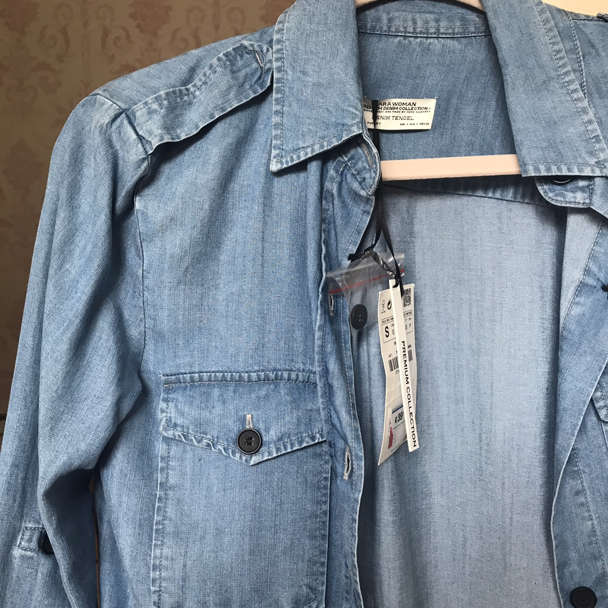 Lovely Blue Shirt From Zara New With Tags Size Depop