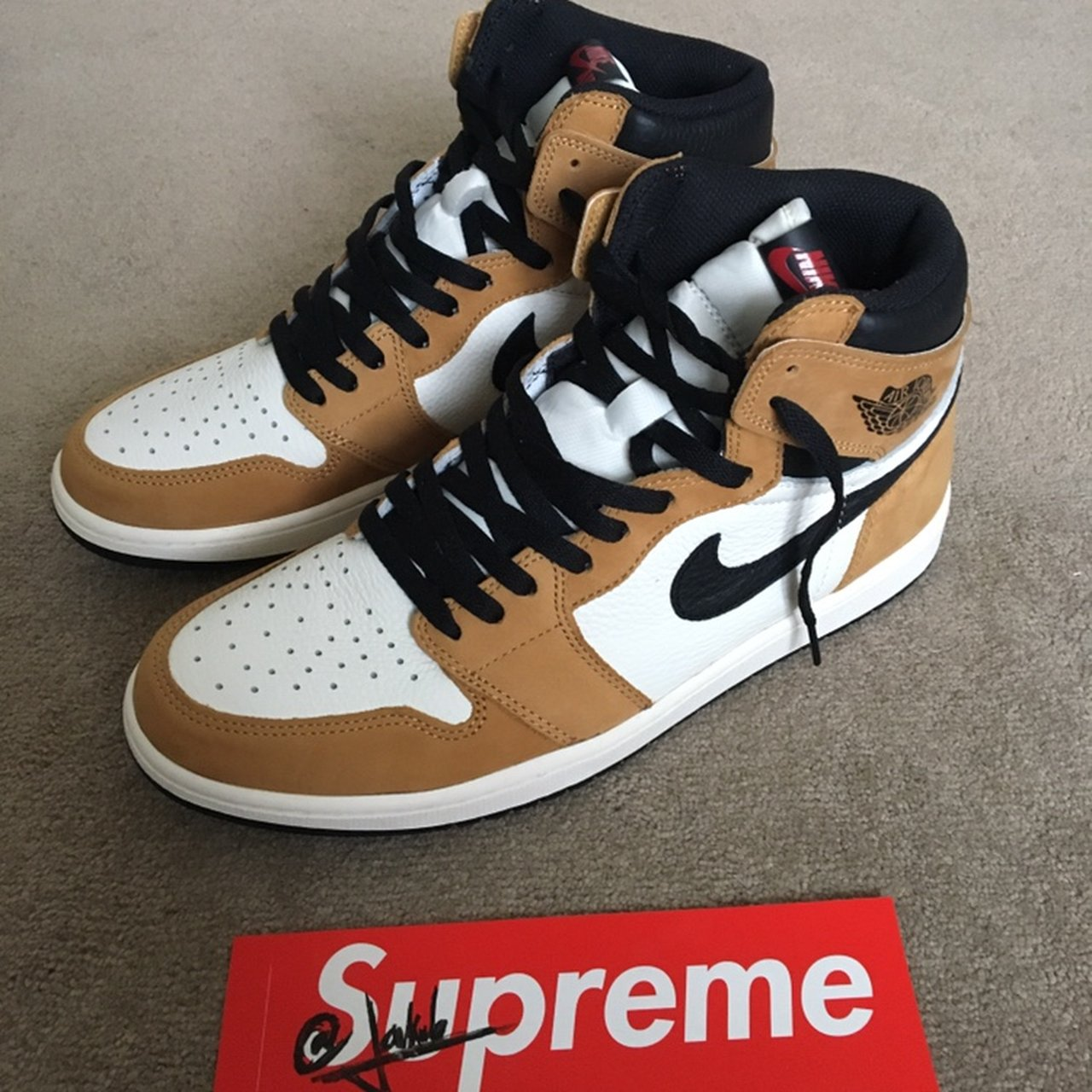 WTS Jordan 1 Retro High OG Rookie of The UK are authentic in - Depop 819f6d42e