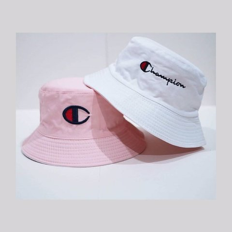 edf7448a18464 Champion reversible bucket hat 🎩 In pink and white😵 (get - Depop