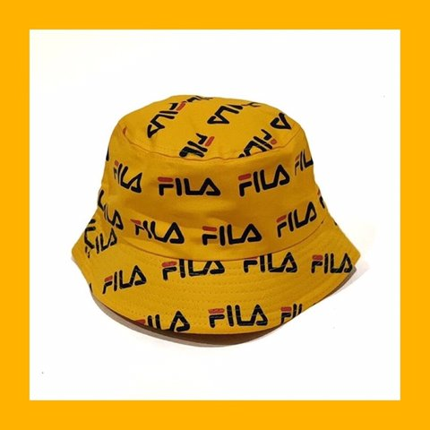 a8a106e748666 Fila bucket hat 🎩 LAST ONE 🐝in yellow🌻 📌Only ONE LEFT - Depop
