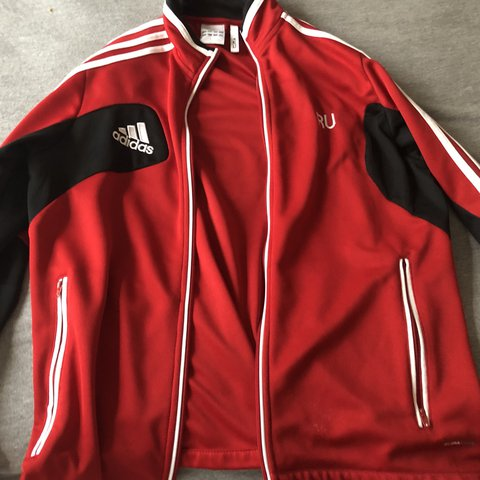 Adidas Jacket Worn Once Adidas Jacket Red Black Warm Depop
