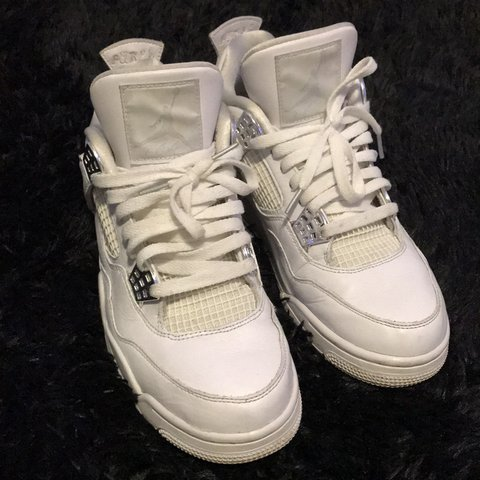e21f37b4fe16b3 Air Jordan 4 Pure Money 100% Authentic - Condition on I no - Depop