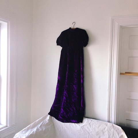919b4b817406 @_petal_. last year. Baltimore, United States. Beautiful vintage royal  purple crushed velvet maxi floor-length dress ...