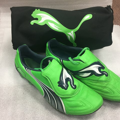 69a1febf56e @m_galvin94. 3 months ago. Newtown, United Kingdom. Puma V1.11 leather  football boots size 8.5 uk + boot bag