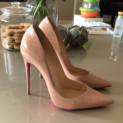 5a7afd92b3a0 Nude so kate Christian Louboutin heels. Size 40