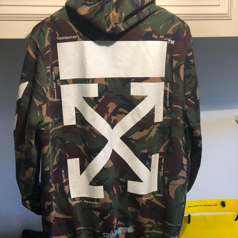 1e81dbc27256 Off-White camo zip hoodie. Authentic 💯 Comes with receipt - Depop